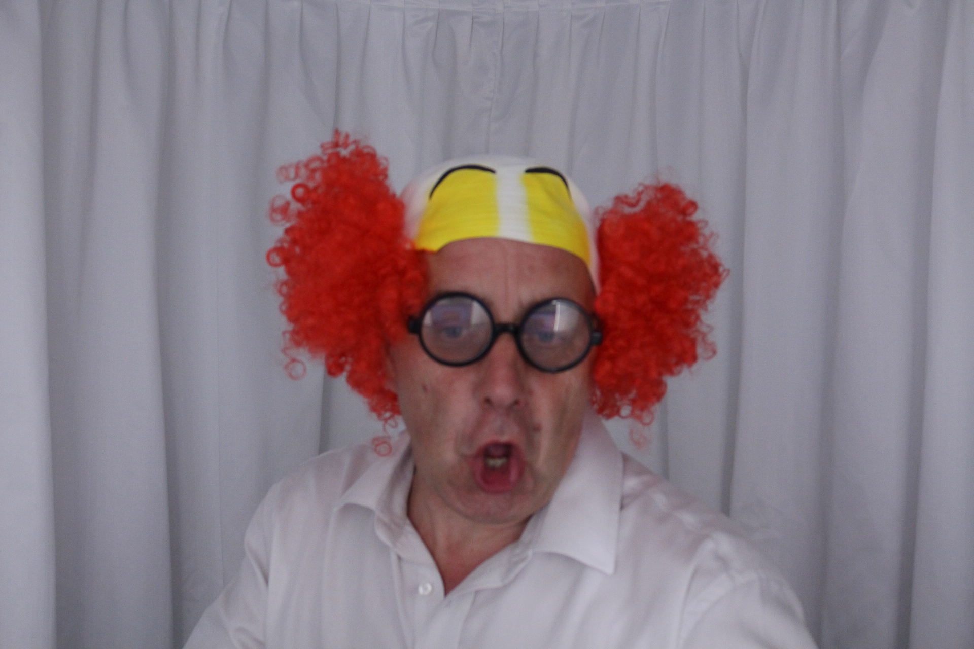 The crazy one, Jhn clowning around in our photo booth